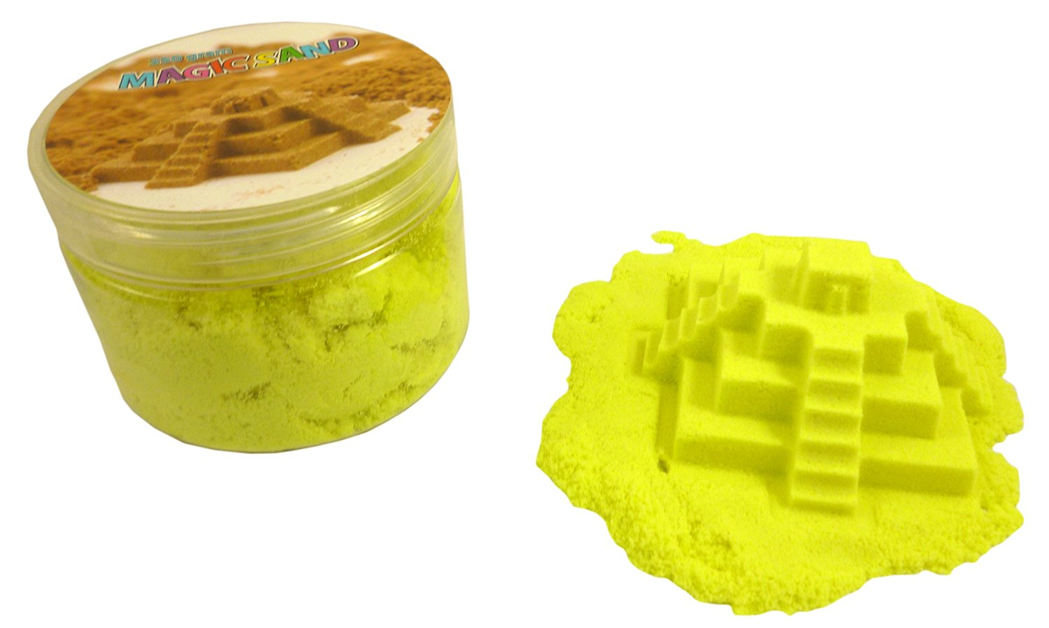 Magic Sand Refill - 250g- YELLOW - Play Sand With No Mess! - Sculpture, Mold ...
