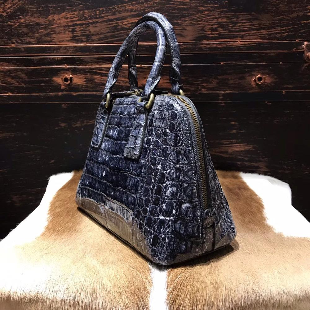 In Stock Exotic Crocodile Skin Leather Ladies Bags Handbag, Luxury Brand Women Bag Handbag, Crocodile Skin Handbag