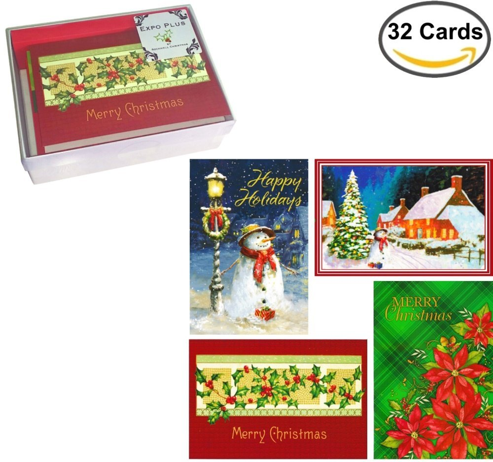 get quotations 32 traditional boxed christmas cards assortment of nostalgia themes with envelopes on recycled - Cheap Christmas Cards Photo