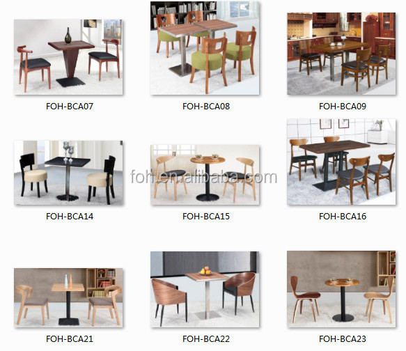 Restaurant Furniture Wooden Tables And Chairs Mexico Furniture Manufacturer  (FOH BCA01)