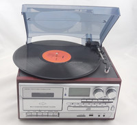 Multiple Function Turntable player Record player with 6 keys / USB/SD/CD Player/Radio/Cassette