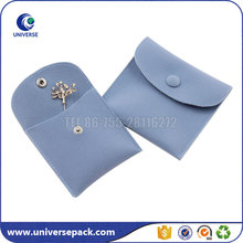 Luxury Gift Packaging Flap Plain Small Suede Pouch For Brooch