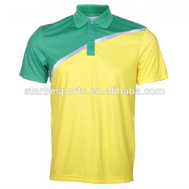 Yellow Green Golf Polo Shirt