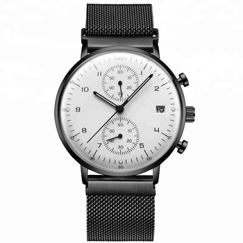 Custom Logo Mesh Strap Watches Men Luxury Brand Automatic