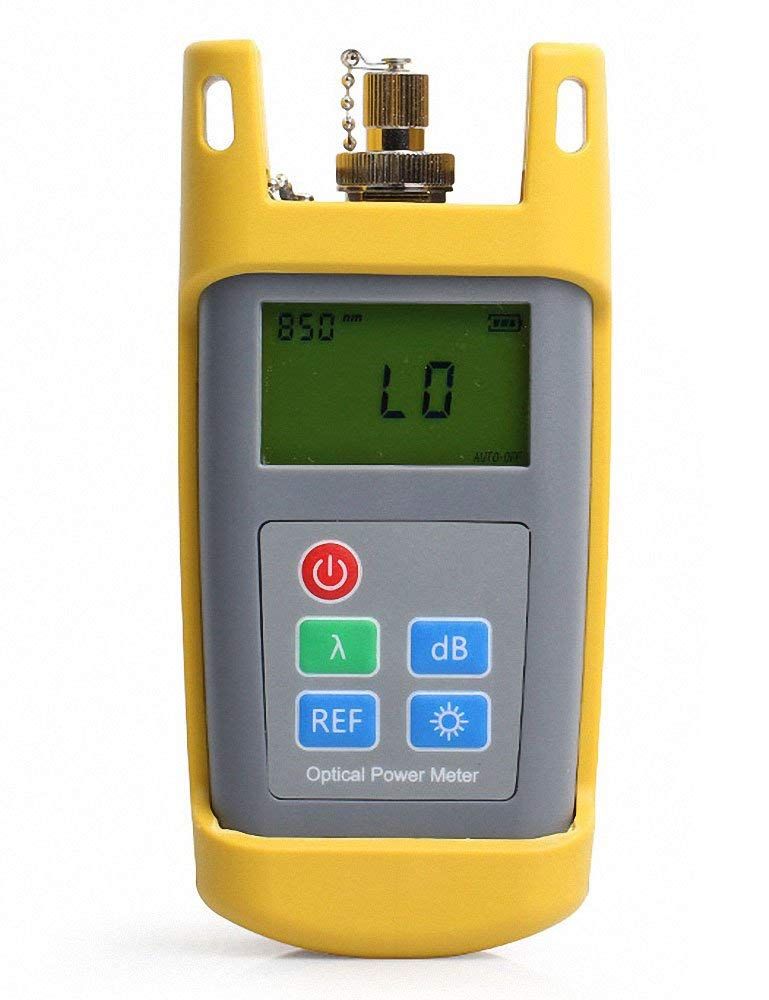FASO High precision Optical Power Meter Tester OPM-801-70 to +10dBm 800~1700nm Handheld Optical Power Meter 2.5mm FC/SC/ST