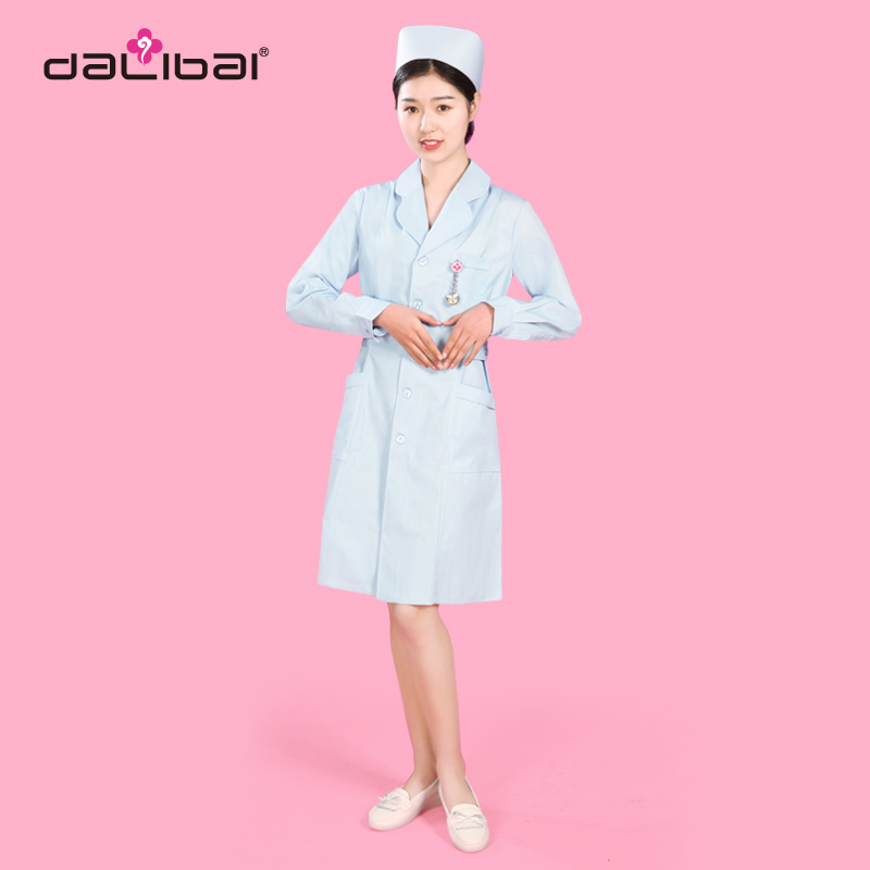 DALIBAI Fashionable Blue dr Nursing Scrubs Uniforms Dress for Girl
