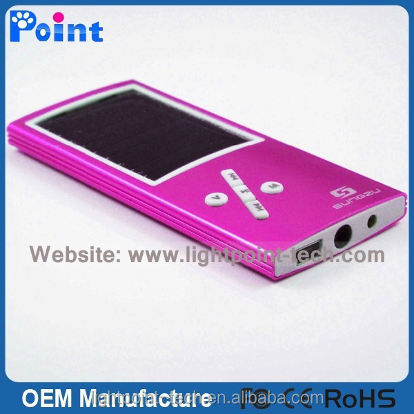 Good quality mp3 solar mp3 player
