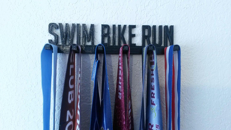 Swim Bike Run Triathlon Sports Medal Display Medal Rack Medal Holder Medal Hanger