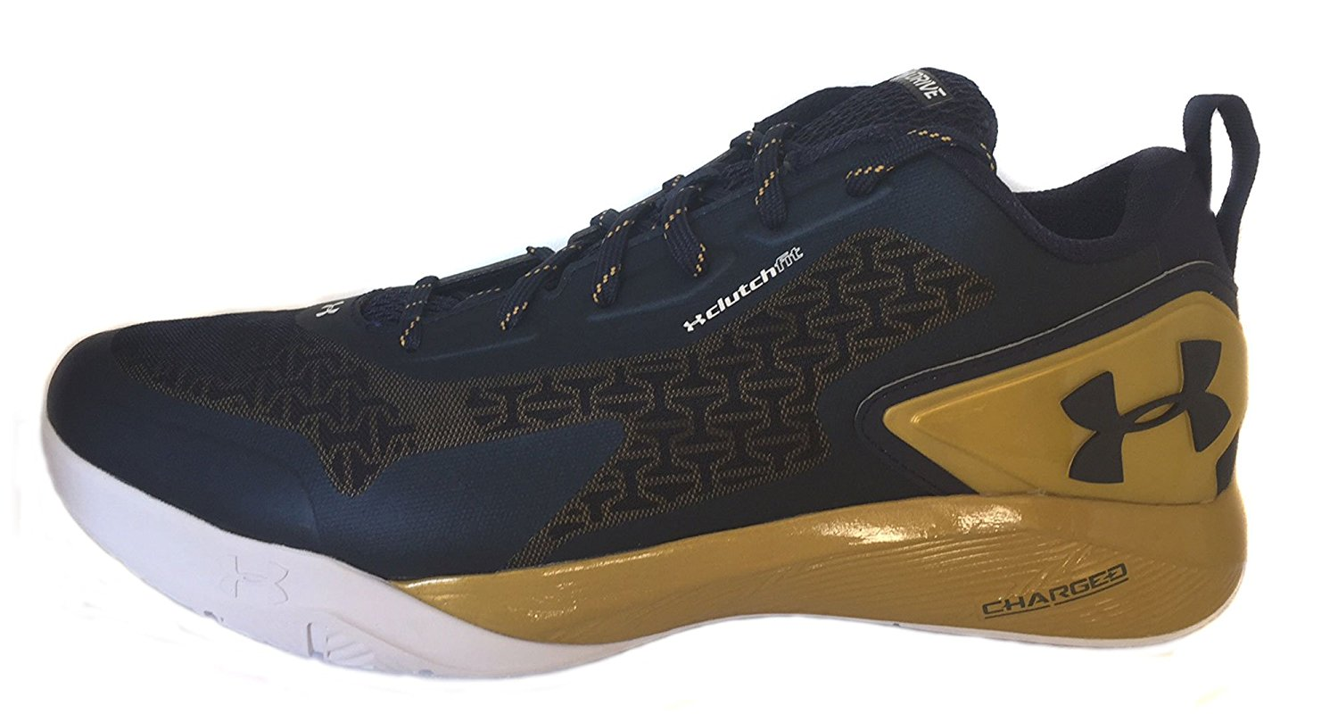 f6dcb1a95dd Get Quotations · Under Armour Clutchfit Drive 2 Low - Veteran S Day Sz 15 Basketball  Midnight Navy-Metallic