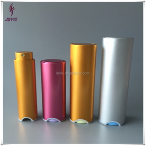 Luxury new aluminum small oval perfume atomizer