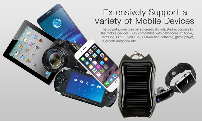 Environmental Friendly Mobile Phone Solar Charger with LED Torch for Promotion or Gift
