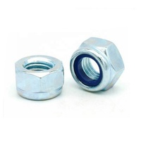 Carbon Steel Blue Zinc Plated Hex Head Lock Nut With Nylon Insert DIN985