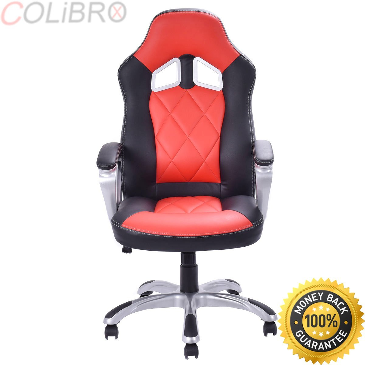 COLIBROX--High Back Racing Style Bucket Seat Gaming Chair Swivel Office Desk Task Red New. new high back racing car style bucket seat office desk chair gaming chair. best amazon race car office chair.