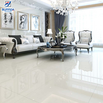 Sunnda High End Good Quality First Choice Glossy Hotel Lobby Polished Soluble Salt Ivory White Porcelain