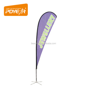 Advertising outdoor custom printed flying spoon teardrop beach flag and banners