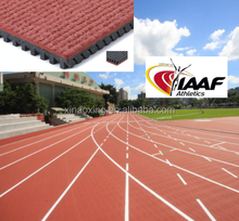 2014 Incheon Asia Games Supplier, IAAF Approved Prefabricated Rubber Running Track Surface