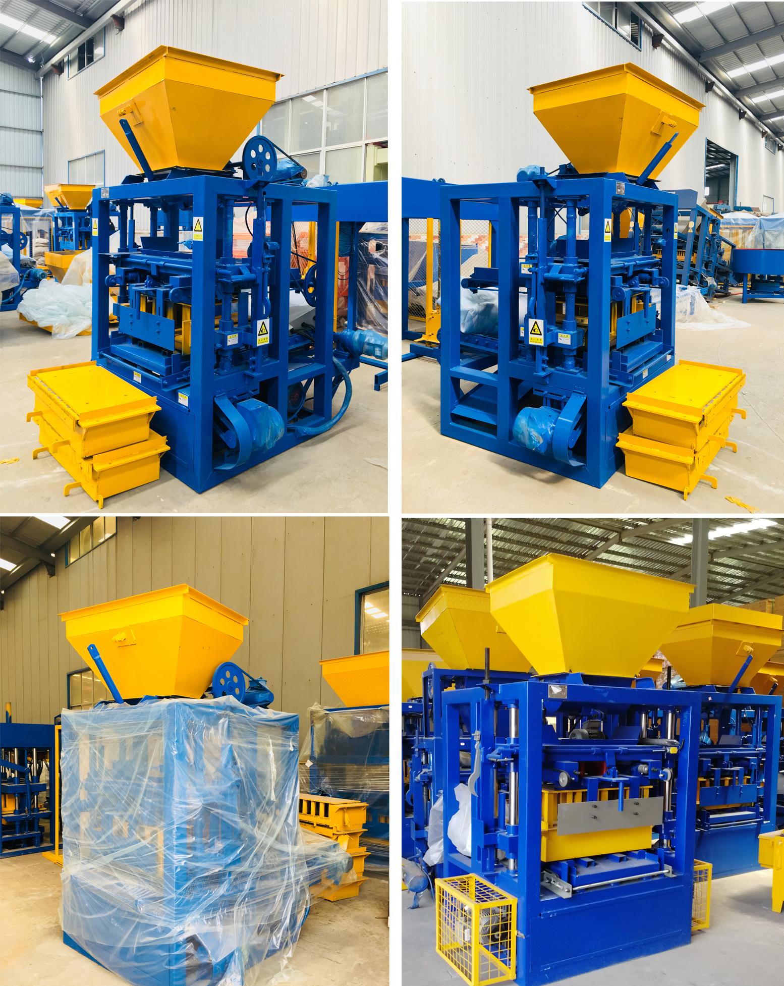 QT4-24 concrete stationary hollow block making machine price
