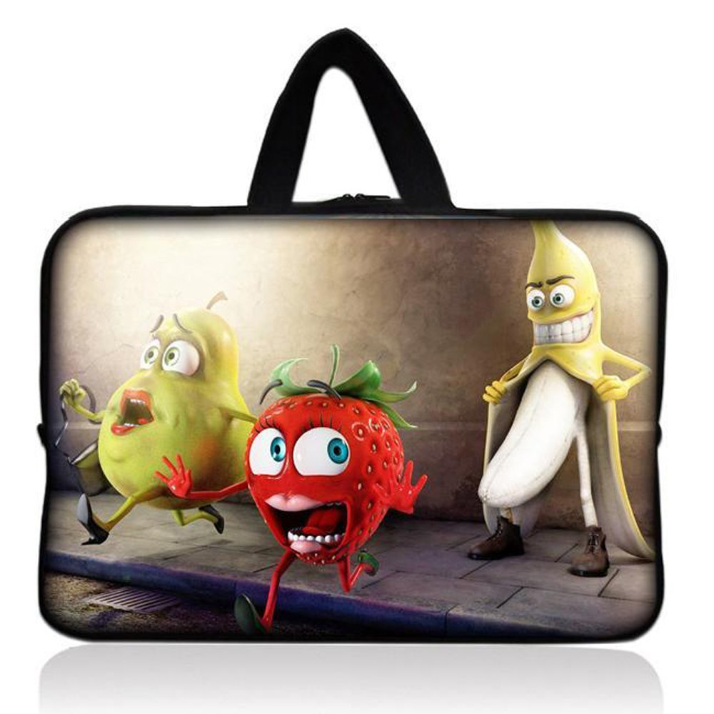 "Fruit Universal 7"" 7.7"" 8"" Carrying Bag Case Cover Bag Sleeve + Handle for 7"" Samsung Galaxy Tab 2 Tab 3, Ipad Mini,Amazon 2 3 4 Kindle Fire, Touch, Fire HD,Asus Google Nexus 7,LeapFrog LeapPad 2,Asus Memo Pad ME172V,BlackBerry PlayBook,HP Slate 7,Kurio 7,Barnes & Noble NOOK Color,Pendo Pad 7"" inch"