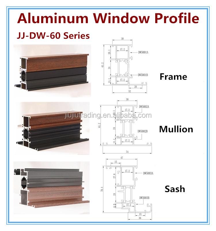 Aluminum Sliding Window Track Materials Profile In China