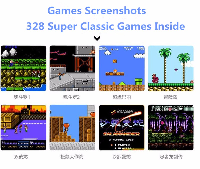 Best gift for kids boy 3.2 inch color screen game console portable 328 games build inside handheld game player for nes for sega