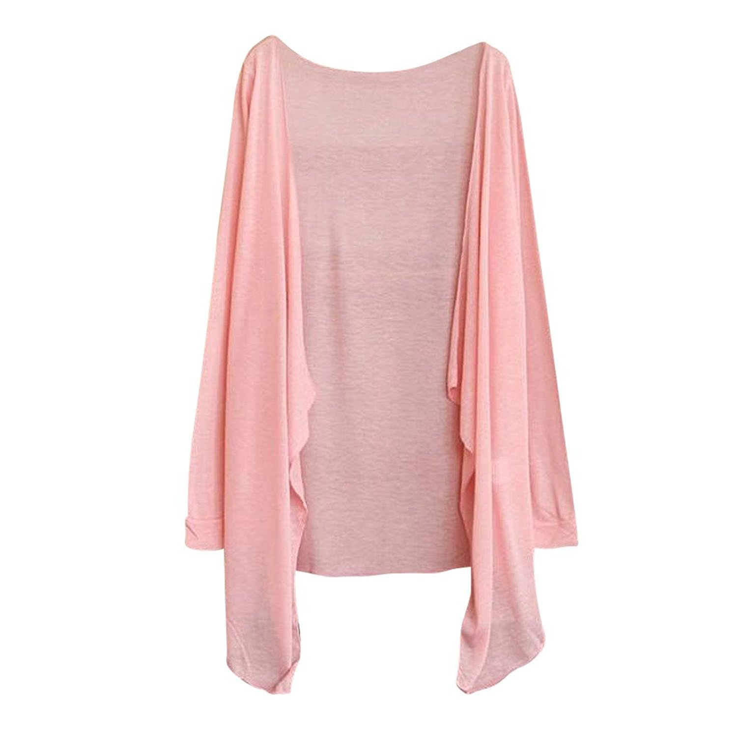 Womens Kimono Cardigans Long Blouse Thin Cover up Modal Sun Protection Clothing Tops Outwear
