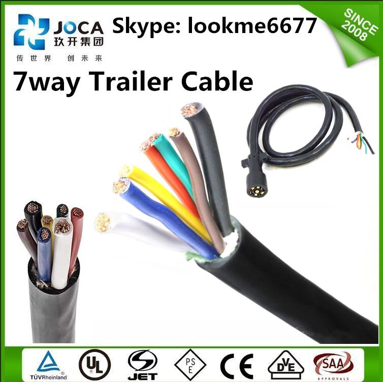 6 Conductor/4 Conductor Trailer Cable 14 Ga Pvc Black Jacket 60v ...