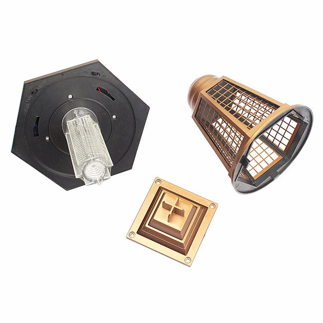China Factory golden color high lumen garden solar electric mosquito killer lamp