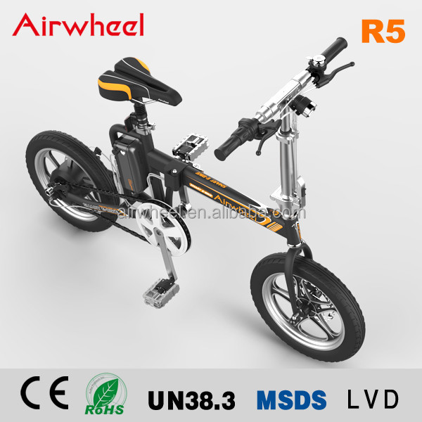 Airwheel R5 foldable smart electric pocket bike with Pedal and seat