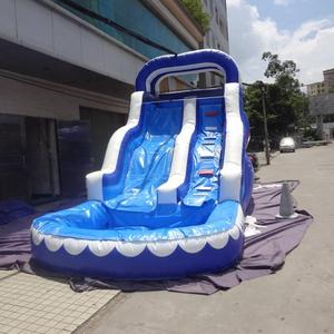Double lane inflatable slides giant inflatable water slide pirate ship slide