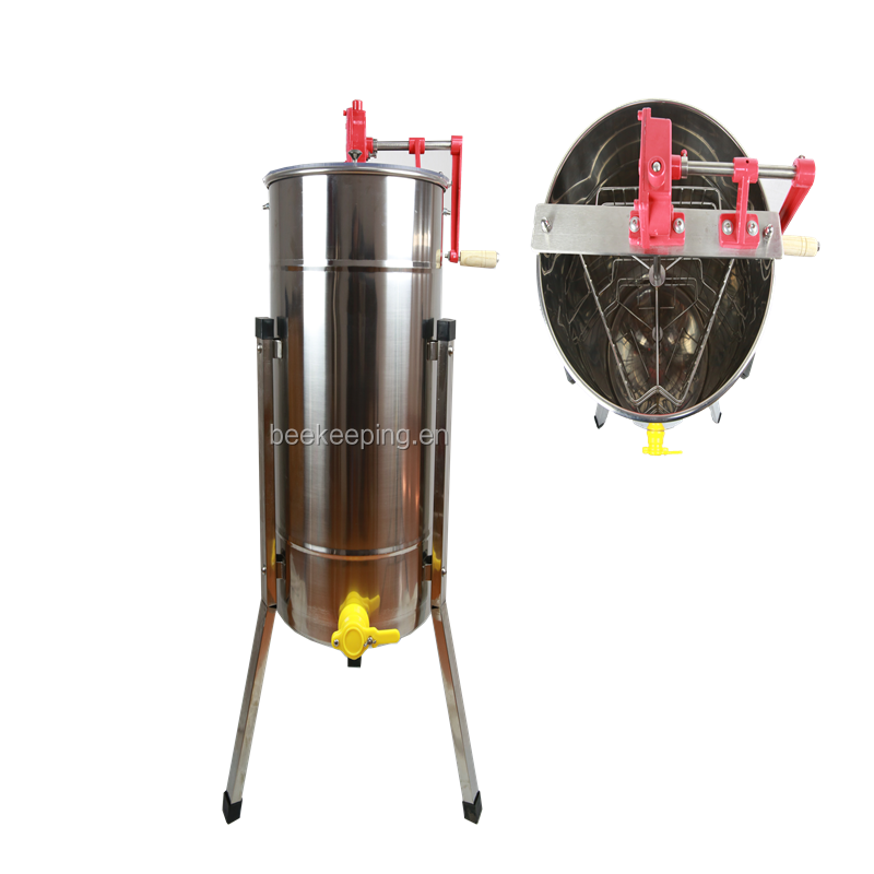 Bee honey extractor shake machine with 3 frame