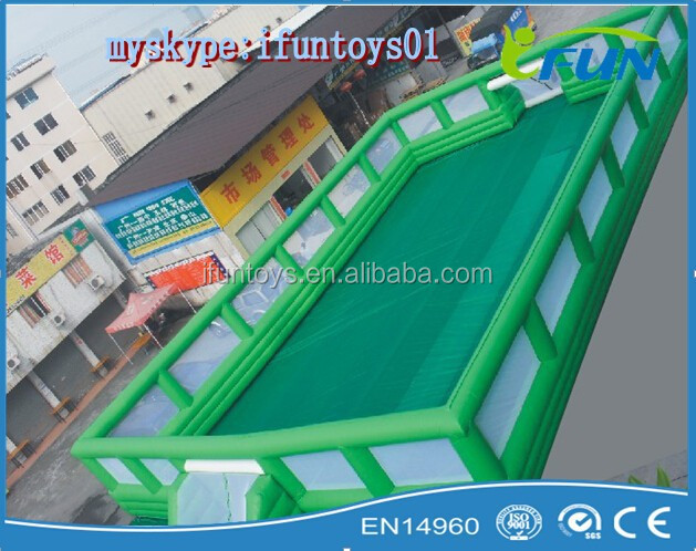 inflatable soccer game court / inflatable football court for football sports