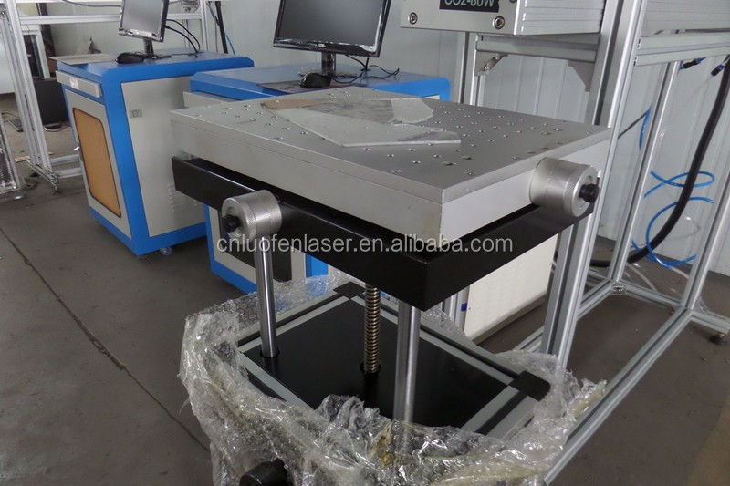 CE wood plastic fabric high speed 50w 80w co2 laser marking machine