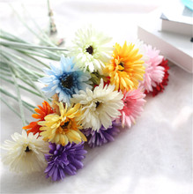 Factory Direct 실크 Single Stem 젖 빛 일 <span class=keywords><strong>꽃</strong></span> <span class=keywords><strong>Gerbera</strong></span> Daisy <span class=keywords><strong>꽃</strong></span> 대 한 홈 Decoration <span class=keywords><strong>꽃</strong></span> 약정