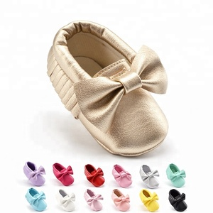 Cheap hot selling new fashion high quality newborn baby moccasins leather soft baby shoe china