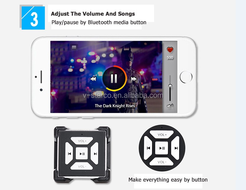 Bt-m2 Bluetooth Wireless Media Music Remote Control Camera Shutter For  Ipad,Iphone,Ipod Touch,Ios And Android Smartphone - Buy Media Music Remote