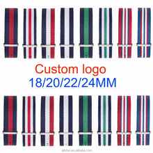 nylon watchband nato strap 22mm sport wrist watch band 18mm 20mm 22mm 24mm