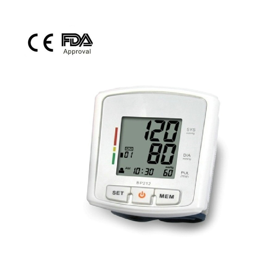 Portable and Small Digital Wrist Blood Pressure Monitor with FDA Approved for Home Use