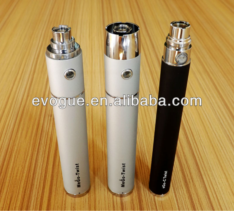 Christmas promotion e-cigarette battery mod ego vision ego c twist electronic cigarette as best gift