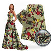 Fashion Swiss Lady Wearing Silk Wax Printed Fabric Look Elegant S180710