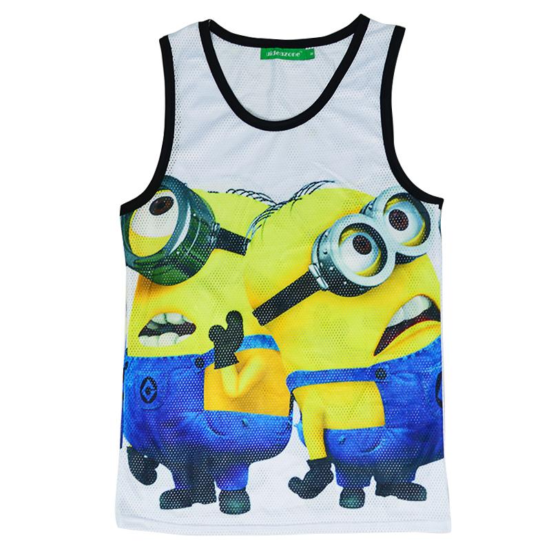 e1f171e3f2823 New Summer Tank Top women 3D Print Despicable Me minion Men tank tops vest  Sport Undershirt Sleeveless Shirt Causal 4 Styles