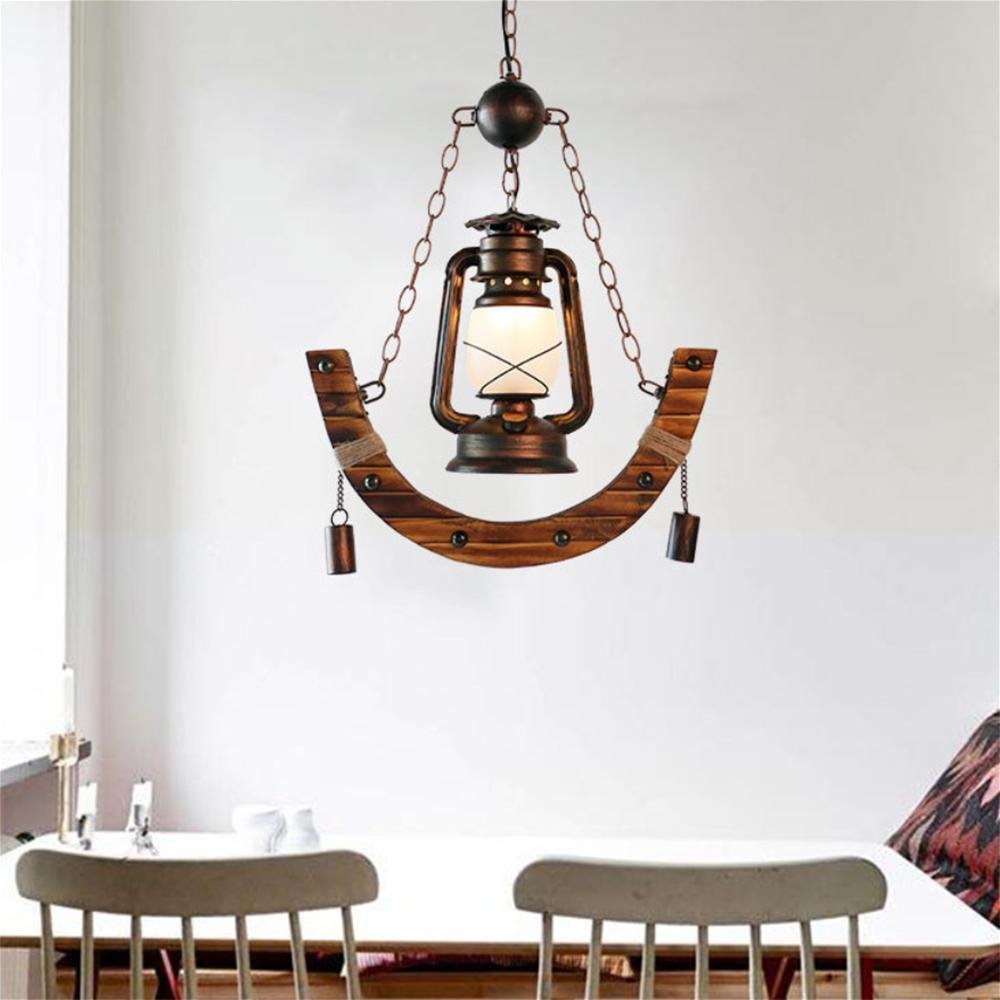 GAO LGDT American country kerosene lamps, chandeliers, creative bamboo lamp, antique bamboo old lamp 46CM 85CM