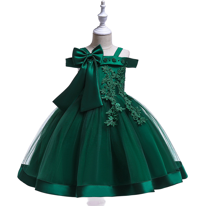 Latest <strong>Fashion</strong> <strong>Kids</strong> Formal Dress off-shoulder Tulle wedding gowns