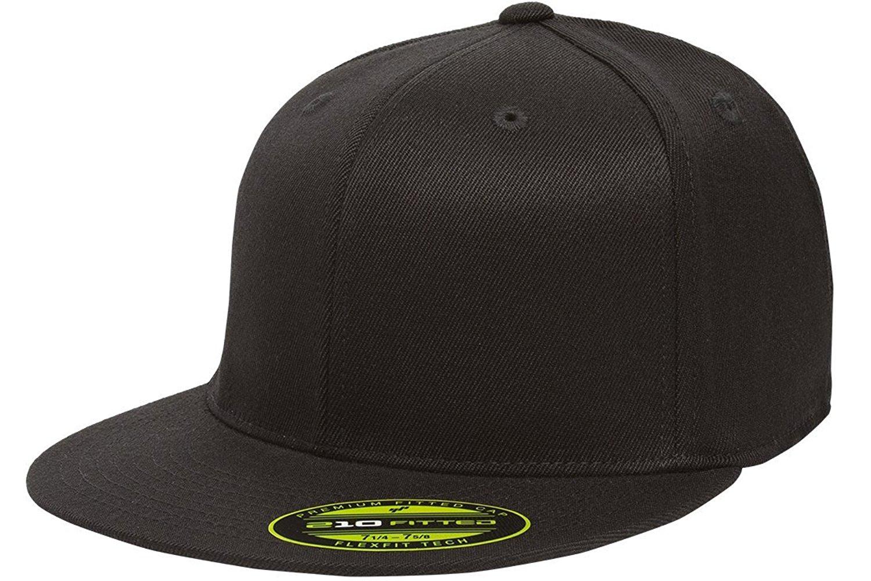 6405ede948a10 Get Quotations · Flexfit Premium 210 Fitted Flat Brim Baseball Hat