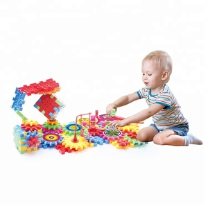 Educational DIY Toy Electronic Building Blocks Plastic Gear Toy
