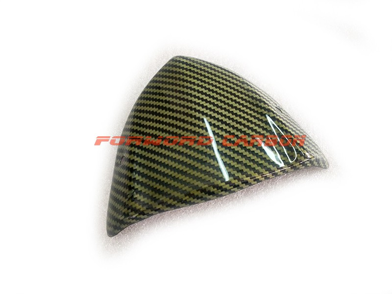 High glossy carbon fiber motorcycle parts kevlar carbon fibre hybrid 3k twill windshield windscreen for Kawasaki Z1000 2014