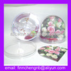 Plastic valentine's day water Ball with Photo Paper Frame insert snow ball paper weight