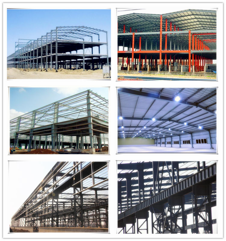 Welding H steel and C/Z purlin prefabricated steel structure