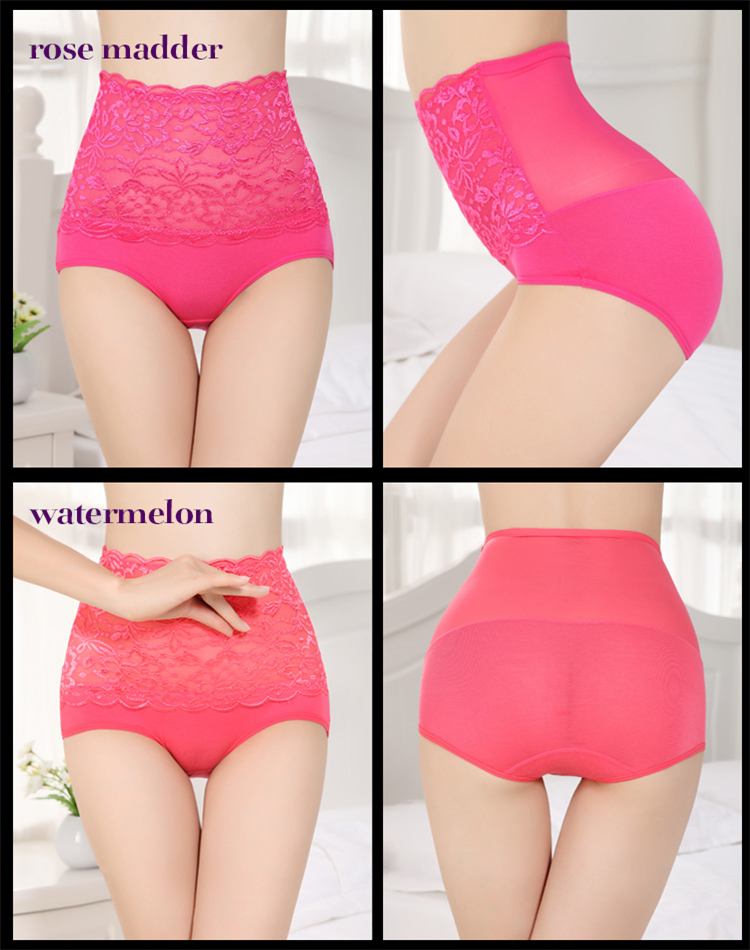 Zhudiman new high waist lace panties women middle aged