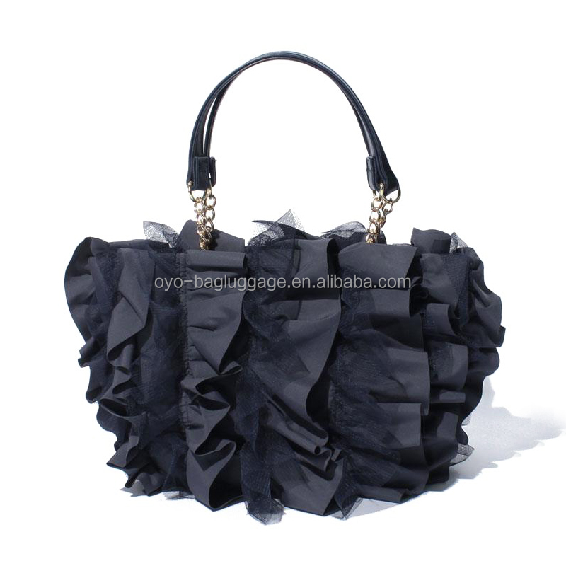 2017 Ladies Frilly Designer Handbag Ruffled Tote Bag
