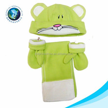 Hot selling high quality fashion kids polar fleece cashmere knit scarf glove and hat set